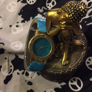 Accessories - Turquoise and gold watch